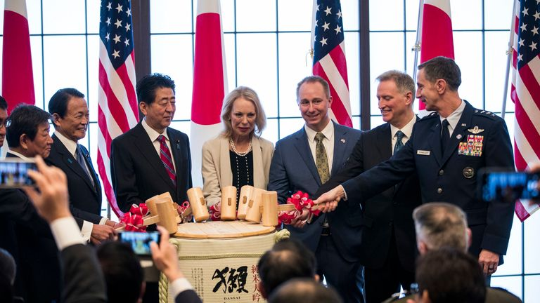 The event reaffirmed Japan's commitment to working with the US