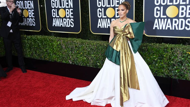 Jennifer Lopez at the Golden Globes 2020