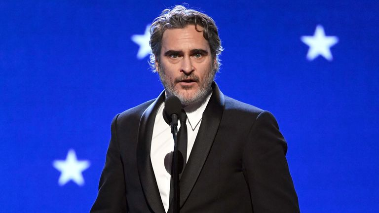 Joaquin Phoenix was named best actor for Joker at the Critics' Choice Awards
