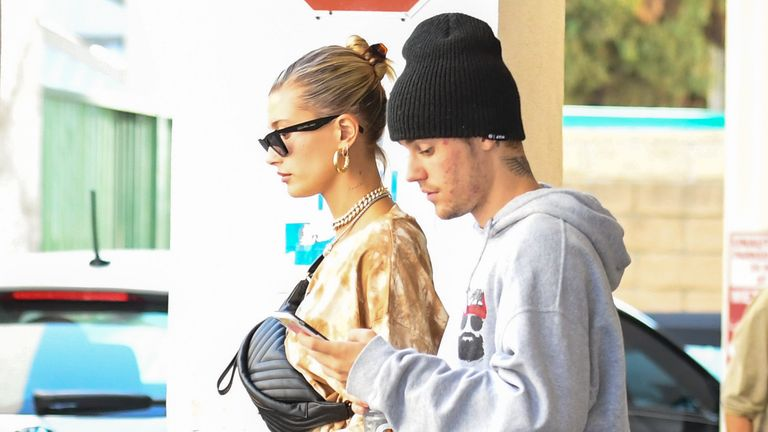 Justin Bieber seen with his wife Hailey Baldwin