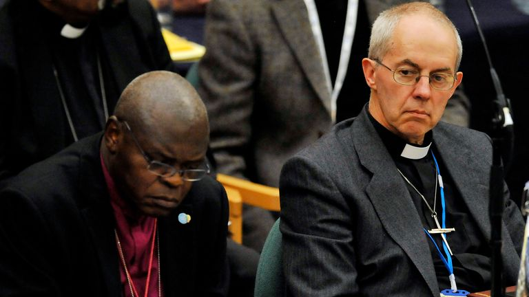 Justin Welby, right, and John Sentamu, left, issued the apology on Thursday