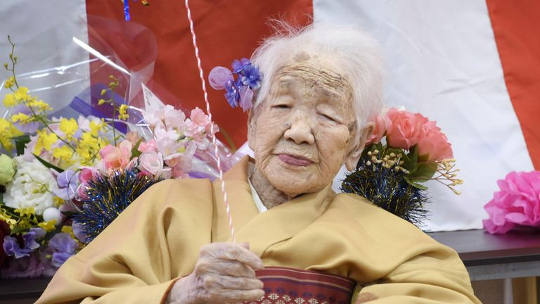 Kane Tanaka celebrated her 117th birthday at a nursing home in Japan