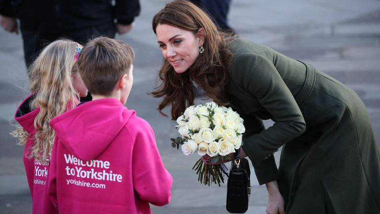 The Duchess of Cambridge met local children