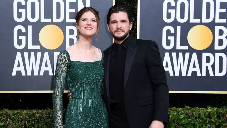 Golden Globes 2020 - Kit Harington and Rose Leslie