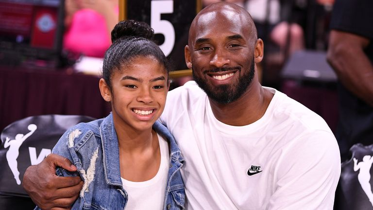 Bryant pictured with his daughter Gianna in Las Vegas in July last year