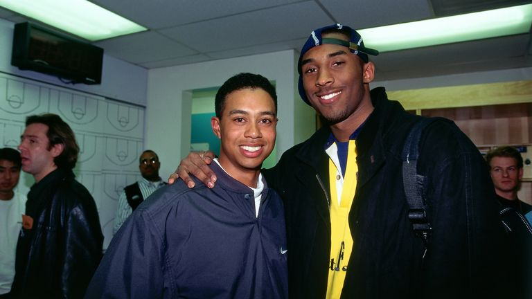 Tiger Woods and Kobe Bryant in 1997
