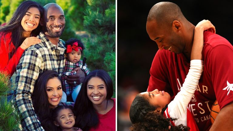 Vanessa Bryant shared a family photo on Instagram (left) and changed her profile picture to a shot of Kobe and Gianna. Pics: Instagram/Getty