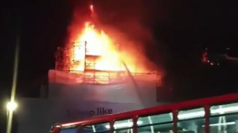 Iconic music venue Koko was being refurbished when a fire ripped through the roof. Firefighters extinguished the blaze