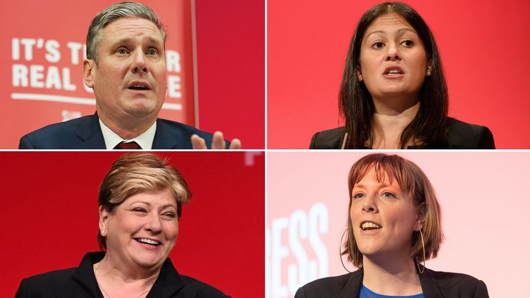 Keir Starmer, Lisa Nandy, Jess Phillips and Emily Thornberry