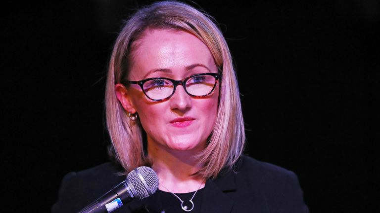 Labour leadership candidate Rebecca Long-Bailey speaks to supporters at a campaign event in Hackney, London