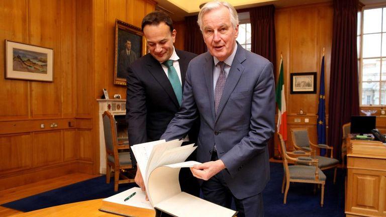 Irish Prime Minister Leo Varadkar and EU chief Brexit negotiator Michel Barnier held talks in Dublin