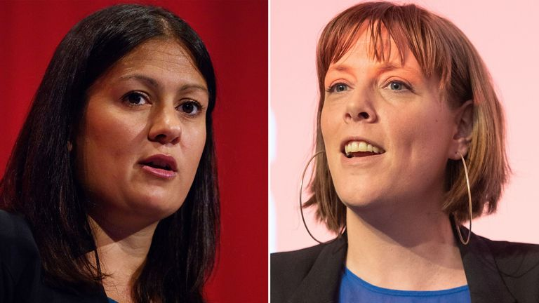 Lisa Nandy, left, and Jess Phillips have confirmed their bids to be the next Labour leader