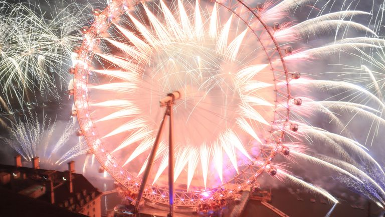 The soundtrack to the fireworks display featured Stormzy, Wiley and Bastille