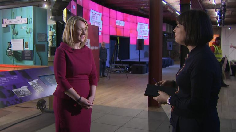 Rebecca Long-Bailey spoke to Sky News ahead of her leadership campaign launch