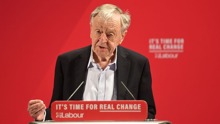 Lord Dubs speaking at the launch of the Labour Party race and faith manifesto