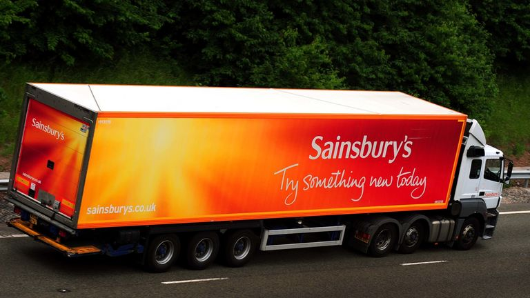 Sainsbury's delivery truck