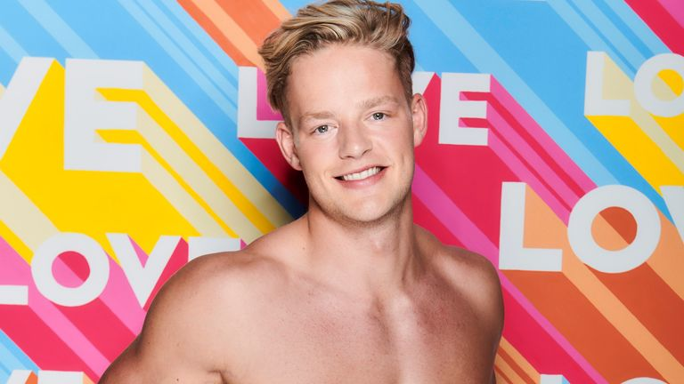 Love Island winter 2020 contestant Ollie Williams. Pic: ITV
