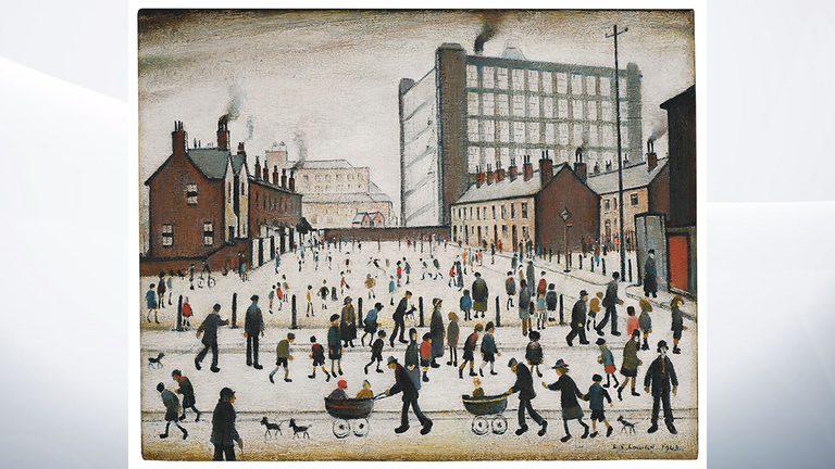 LS Lowry's The Mill, Pendlebury from 1943. Pic: Christie's Auctions