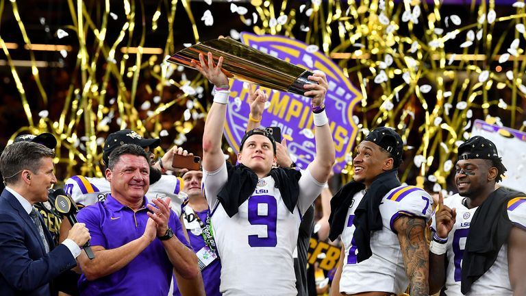 The LSU Tigers won the championship game against Clemson Tigers