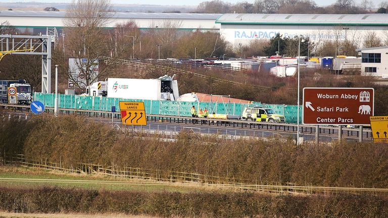 M1 crash. Pic: South Beds News Agency