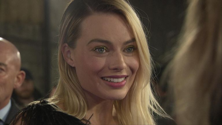 Hollywood star Margot Robbie spoke to Sky News about why thinks men needs to watch more films with female protagonists.