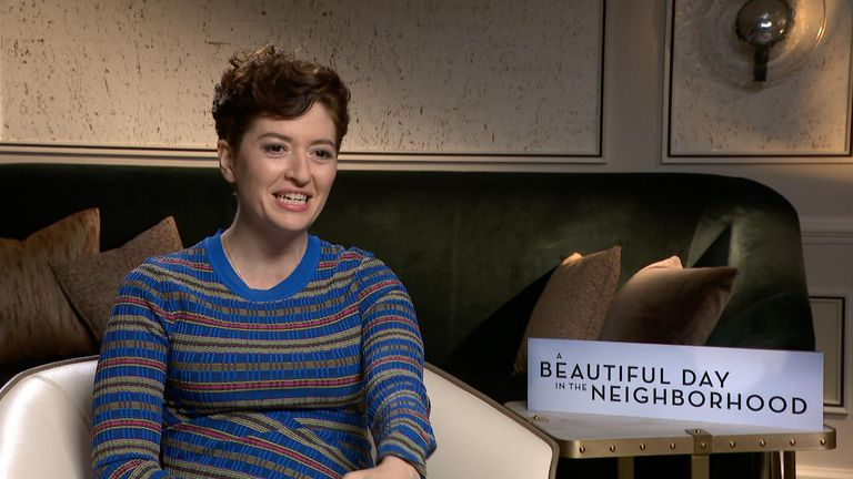 Director Marielle Heller talks to Sky News' Gemma Peplow about working with Tom Hanks on the film A Beautiful Day In The Neighbourhood