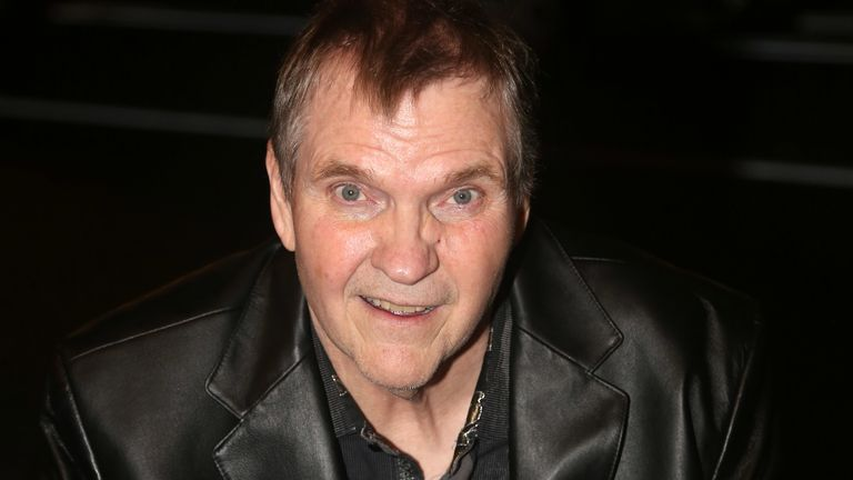 "Meat Loaf visits the cast of the musical ""Bat Out Of Hell"" on Broadway at New York City Center on August 20, 2019 in New York City"