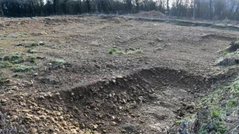 Some of the graves were still visible. Pic: Jane Russell
