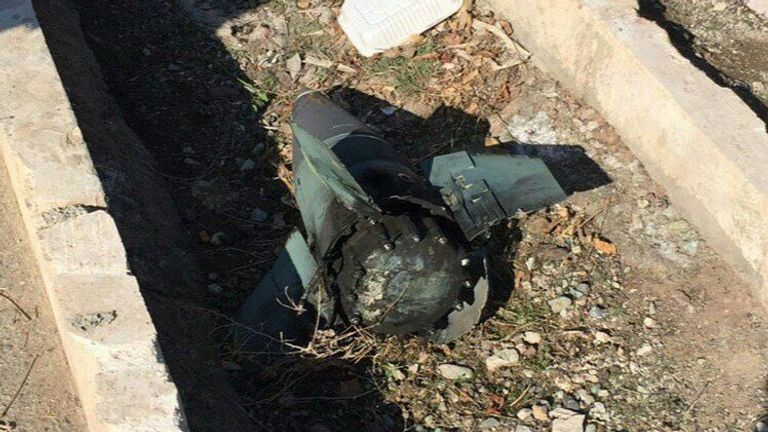 An image of a missile has been circulating online, suspected to be the cause of the plane crash in Iran