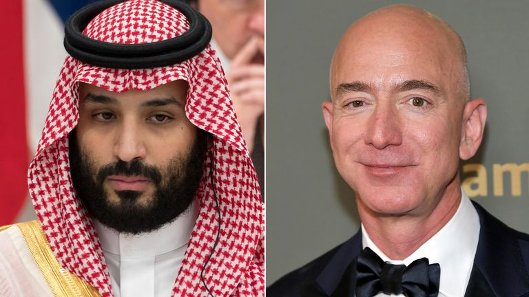 Jeff Bezos claims the Saudi leader hacked his phone