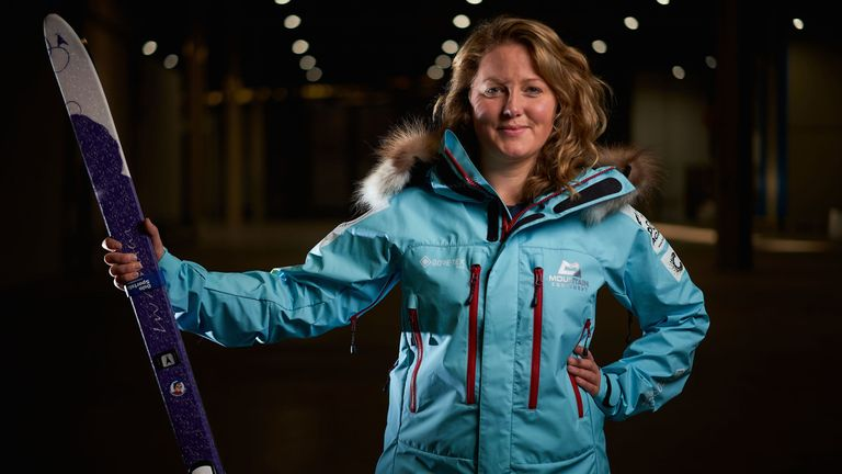 Mollie Hughes battled through snow storms and temperatures of -45C to reach the South Pole