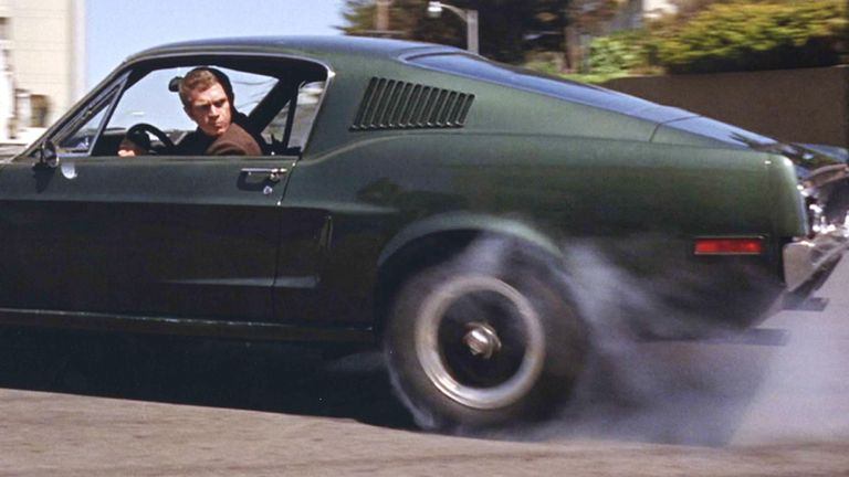 The 1968 Ford Mustang, used in Steve McQueen's movie Bullitt
