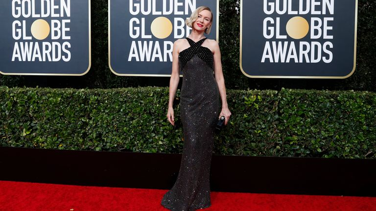 Naomi Watts at the Golden Globes 2020