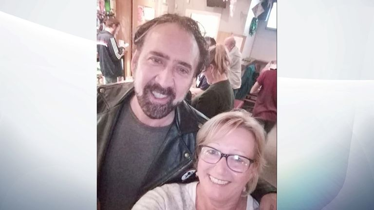 Nicholas Cage bought everyone a drink. Pic: Tramways Social Club