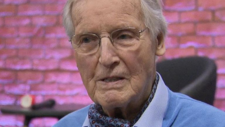Nicholas Parsons speaks to Sky News in 2017