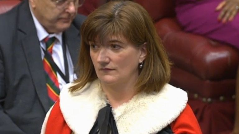 Nicky Morgan is sworn in as a member of the House of Lords