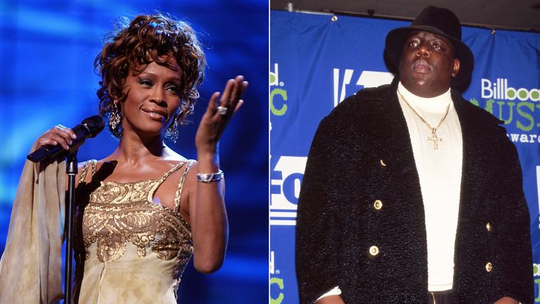 Whitney Houston and The Notorious BIG