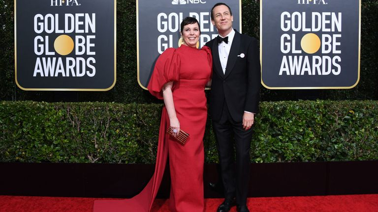 Golden Globes 2020 - Olivia Colman and Tobias Menzies
