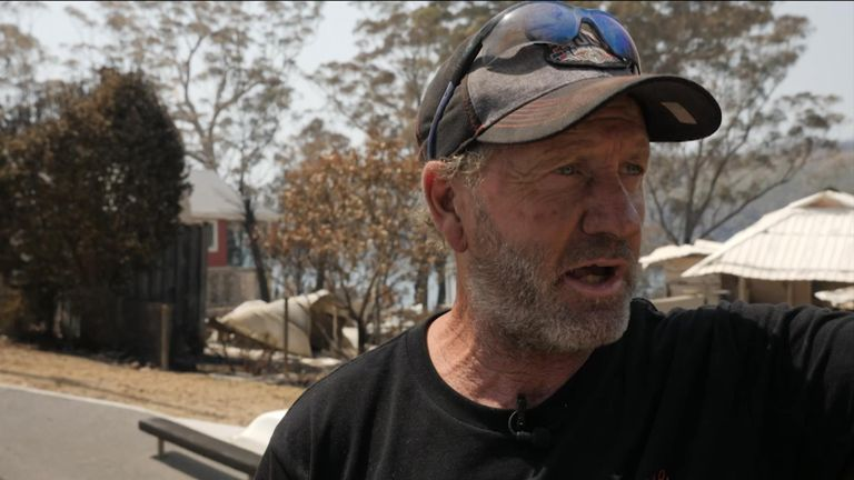 In the community of Conjola Park is one man who risked his own life to try save his own home and those of his neighbours.