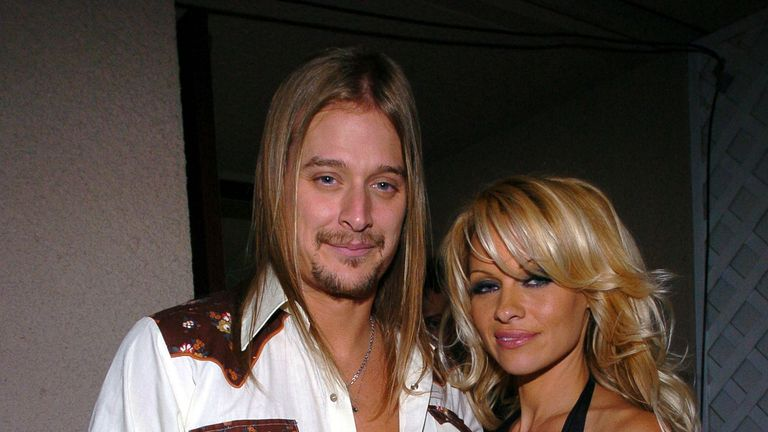 Anderson with her former husband Kid Rock