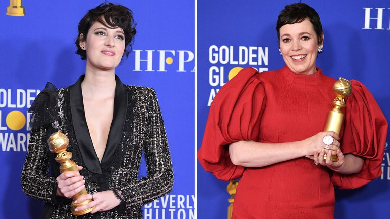 Golden Globe 2020 British winners Olivia Colman and Phoebe Waller-Bridge