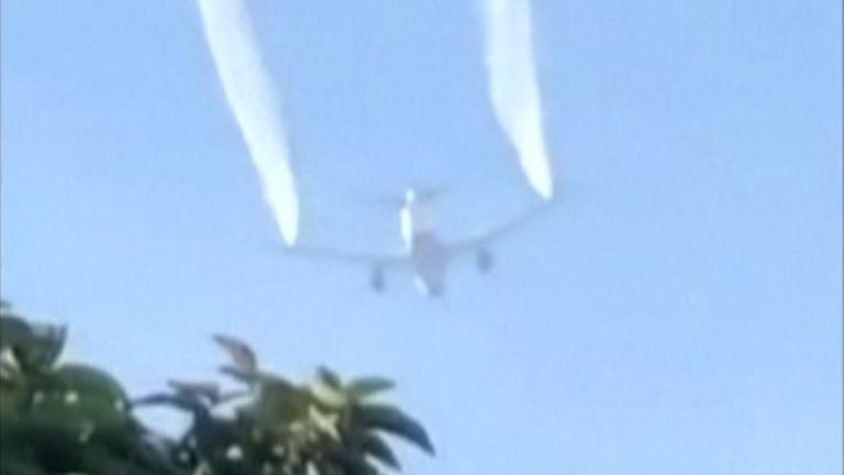 Plane dumps fuel on school before landing