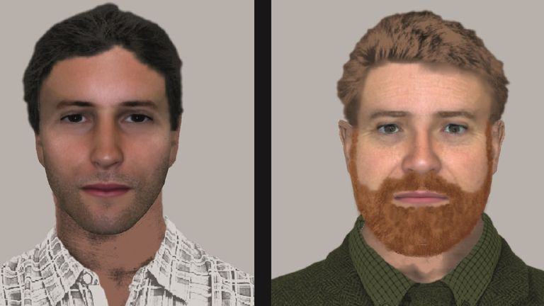 Police have released these e-fit images of two of the suspects
