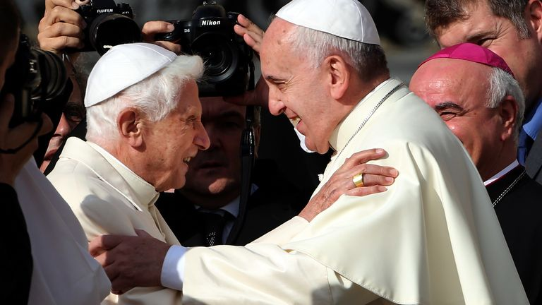 Former Pope Benedict has repeatedly shared public views on church matters since being replaced by Pope Francis in 2013