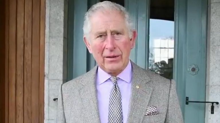 Prince Charles sends a message to Australia