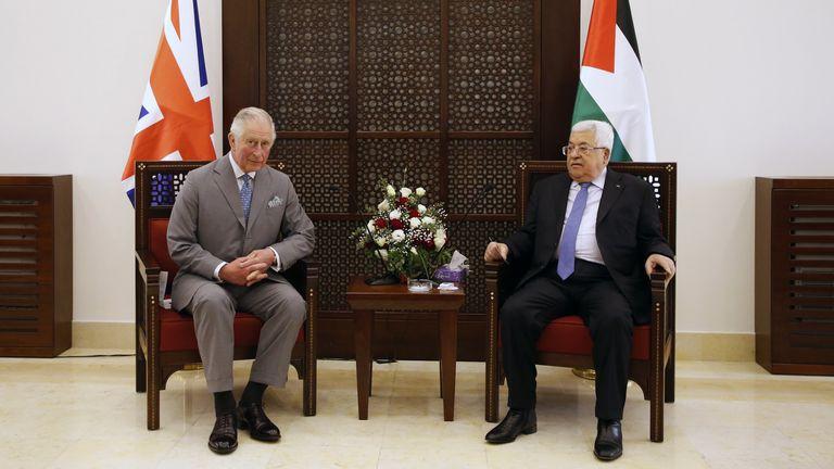 Prince Charles met Palestinian Authority President Mahmoud Abbas