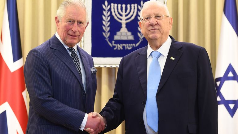 Prince Charles and Israeli President Reuven Rivlin