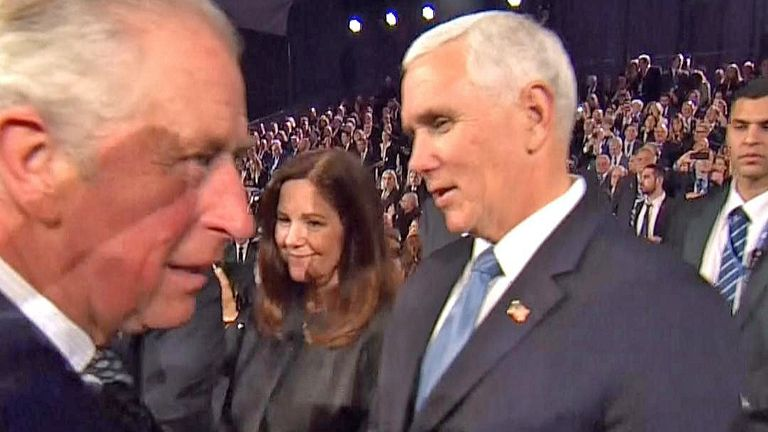 Prince Charles and US Vice-President Mike Pence are amongst several world leaders attending the World Holocaust Forum in Jerusalem.