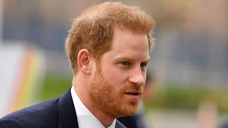 Prince Harry arrives to attend the UK-Africa Investment Summit in London