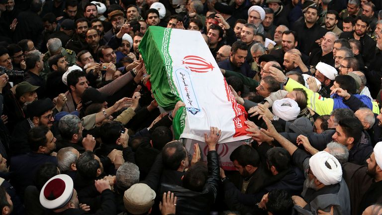 Thousands have turned out for the funeral of Maj Gen Soleimani